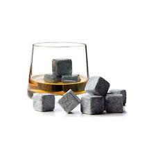 Lot De 9 Pierres Glaçon Pour Whisky Vodka Liqueur Gin Vin + Sachet Velours Neuf
