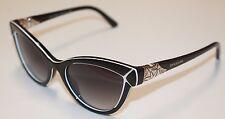 Bvlgari Womens Sunglasses BV8156B 53878G Cat Eye Black White Frame/Grey Lens NEW