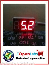 New Mini DC 0-100V Red LED Panel Voltage Meter 3-Digital Display Voltmeter