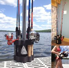Fishing Rod  Holder Carrier Caddy Mount Holds Multiple Fishing Poles