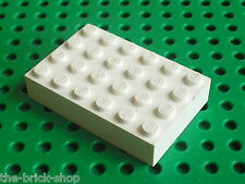 Plaque epaisse white Brick 4 x 6 ref 2356 LEGO / Set 7163 5895 10019 6464