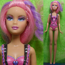 "Mattel Barbie 11.5"" PINK HAIR FAIRY Color Change Doll Mariposa for OOAK Jem"