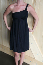 Womens One Shoulder Grecian Style Black Dress Size Small NEW