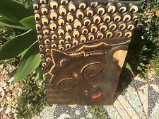 Bali- Buddha Wall Hanging - Balinese- Carved Timber