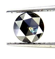 0.75TCW 5.5 MM Round Rose cut Jet Black AAA Color African Natural Loose Diamond