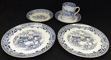 Royal Tuscan C 9191 Blue and White 2 Dessert Plates 1 Cup 2 Saucers