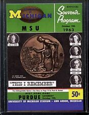TK LEGACY MICHIGAN VS MICHIGAN STATE PROGRAM COVER CARD PC40 1 0F 250