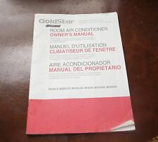 Goldstar Room Air Conditioner Owner's Manual Models M1804R WG1800R WG2400R