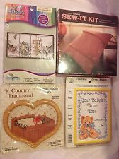 Lot Cross Stitch Butlers Sew-it Kit Craft Projects Birds Baby Name Country Goose