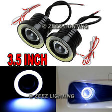"3.5""LED COB Projector Fog Driving Lamp Angel Eye Halo Ring DRL Daytime Light C07"