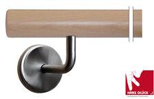 Ringhiera corrimano scala faggio 1m con 2 supporto inox Pronto  l'installazione