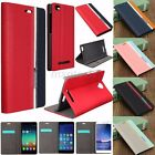 Mohoo Hybrid Book Style Flip PU Leather Card Cover Case Stand For Various Phones