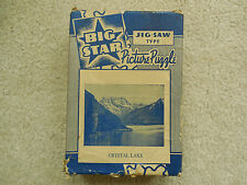 """Big Star Jig-Saw Type Picture Puzzle,  250 Pieces, """"Crystal Lake"""""""