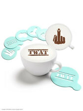 Brainbox Candy Coffee Cupcake rude chocolate sprinkle stencil 6 pack funny joke