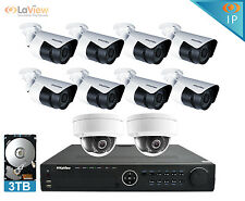 LaView 1080p 10 Camera Security System IP Bullet Dome Night Vision 16Ch HD NVR