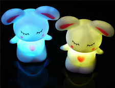 Rabbit LED Night Light Baby Room Kids Bedroom Colorful Sleep Night Light Up Toy