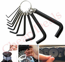 10PC METRIC HEX ALAN KEY WRENCH SET 1.5mm To 10mm WITH NEW ALLEN KEY RING