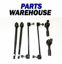 6 Pc Kit For Chevy Cobalt Pontiac G5 Saturn Ion Inner Tie Rods Front Sway Bars
