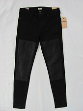 True Religion Halle Super Skinny Jeans-Metallic Patched- Black -Size 28-NWT $238