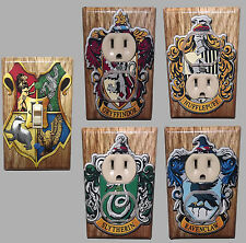 Harry Potter Light Switch Cover Set of 5 Hogwarts Crest Griffindor Slytherin
