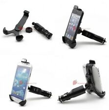 2in1 Car Cigarette Lighter Mount Holder Charger f. iPhone 5 4S 4 Nexus 4 Samsung