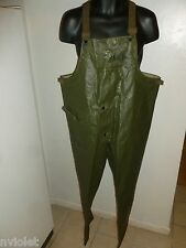 USN NAVY DEPARTMENT USA MILITARY GREEN OVERALLS TROUSERS PANTS WATER REPELLENT M