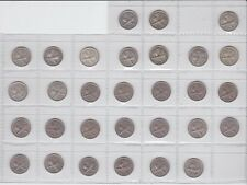 3p Threepence Coin Set Complete but for the 1935 one New Zealand NZ