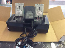 Rocket Fish Wii Dual Charging Dock Station Charger + 2 Batteries! Tested! Works!