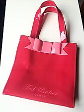 Ted Baker Designer Ladies Women Handbag Tote Shopper Medium Red