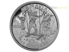 15 $ Dollar Exploring Canada Wild Rivers Exploration Kanada 2015 PP Proof Silber