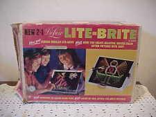 1968 Hasbro 2 in 1 Deluxe LITE-BRITE Original Box, Pegs, Refills,Instruc