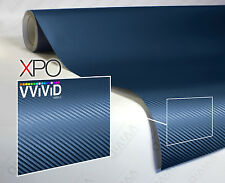 Navy blue carbon fiber 5ft x 5ft car vinyl wrap  VViViD XPO 3d cast sheet roll