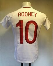 ENGLAND 2012/13 HOME SHIRT ROONEY NO. 10 BY UMBRO SIZE XL BOYS BRAND NEW