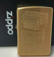 Zippo Lucky Strike lighter New in Box Rare Sold Brass Vintage Limited Made 2008