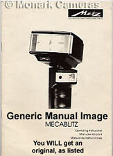 Mecablitz Metz 45CL4 Flash Instruction Book, More Mecablitz User Manuals Listed
