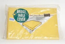VTG Mid Century BRIDGE TABLE COVER  Penthouse Products NIB 30x30 Yellow