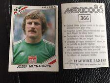 Panini - Mexico 86 World Cup - # 366 Jozef Mlynarczyk Poland Polska