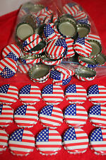 500 FLAG STARS & STRIPES RED WHITE BLUE BEER BOTTLE CAPS NO DENTS FREE SHPG!