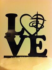 LOVE Heart Cross Rings Wedding Cake Topper  MADE In USA…..Ships from USA