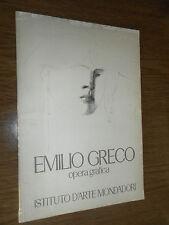 EMILIO GRECO - OPERA GRAFICA - ISTITUTO D'ARTE MONDADORI