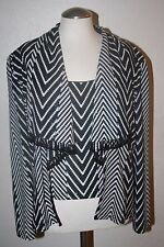Joesph Ribkoff black and white 2 piece set women's size 14  NICE