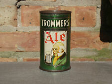 Very Rare Trommer's Ale Flat Top Beer Can With Opening Instructions