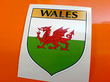 WALES / WELSH County Shield Van Car Bumper Caravan Sticker Decal 1 off 80mm