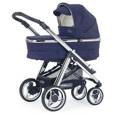 BEBECAR HIP HOP 3 IN 1 PRAM AND PUSHCHAIR STROLLER BRAND NEW BLUE WITH CARRYCOT