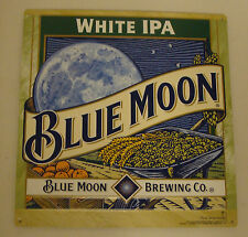 "BLUE MOON BREWING CO. WHITE IPA 12"" X 12.5"" EMBOSSED METAL SIGN NEW"