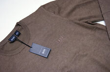 Authentic New Mens Hugo Boss Crewneck Wool Sweater Brown XL size