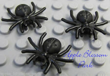 NEW Lego 3 BLACK SPIDERS - Halloween Monster Animal Insect Minifig Spider Pet