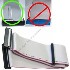 """2.5ft long 2device FD/Floppy 3.5""""Dual Drive/Device Flat Ribbon Cable/Cord/Wire"""