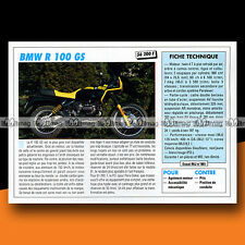 ★ BMW R 100 GS ★ 1991 Essai Moto / Original Road Test #c765