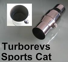 "2.5"" EXHAUST STAINLESS STEEL 200 CELL HIGH FLOW SPORTS CAT CATALYTIC CONVETER"